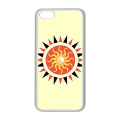 Yin Yang Sunshine Apple Iphone 5c Seamless Case (white) by linceazul