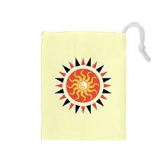 Yin Yang Sunshine Drawstring Pouches (medium)  by linceazul