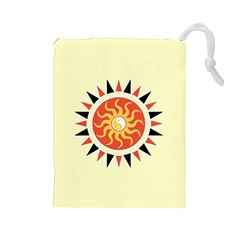 Yin Yang Sunshine Drawstring Pouches (large)  by linceazul