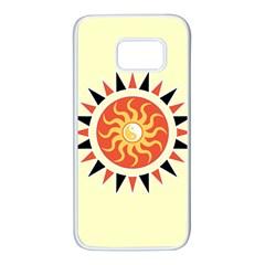 Yin Yang Sunshine Samsung Galaxy S7 White Seamless Case by linceazul