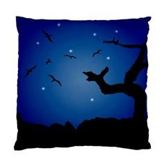 Nightscape Landscape Illustration Standard Cushion Case (two Sides) by dflcprints