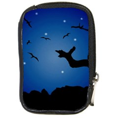 Nightscape Landscape Illustration Compact Camera Cases by dflcprints