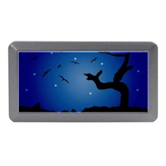 Nightscape Landscape Illustration Memory Card Reader (mini) by dflcprints