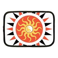 Yin Yang Sunshine Netbook Case (medium)  by linceazul
