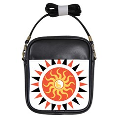 Yin Yang Sunshine Girls Sling Bags by linceazul