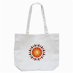 Yin Yang Sunshine Tote Bag (white) by linceazul