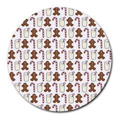 Christmas Trio Pattern Round Mousepads by Nexatart