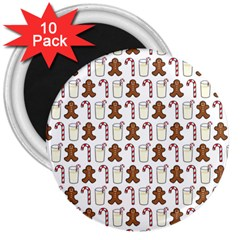 Christmas Trio Pattern 3  Magnets (10 Pack)  by Nexatart