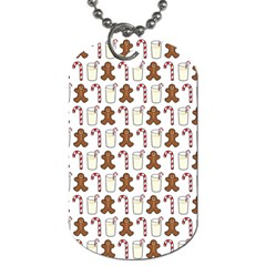 Christmas Trio Pattern Dog Tag (two Sides) by Nexatart