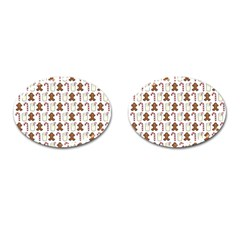 Christmas Trio Pattern Cufflinks (oval) by Nexatart