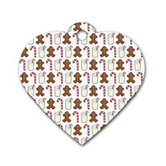 Christmas Trio Pattern Dog Tag Heart (two Sides)