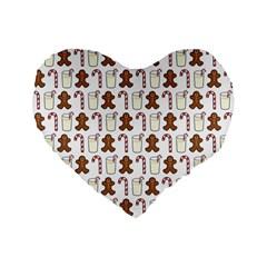 Christmas Trio Pattern Standard 16  Premium Heart Shape Cushions