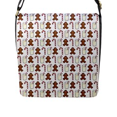 Christmas Trio Pattern Flap Messenger Bag (l)  by Nexatart