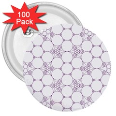 Density Multi Dimensional Gravity Analogy Fractal Circles 3  Buttons (100 Pack)