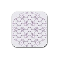 Density Multi Dimensional Gravity Analogy Fractal Circles Rubber Square Coaster (4 Pack)  by Nexatart
