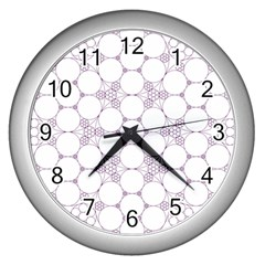 Density Multi Dimensional Gravity Analogy Fractal Circles Wall Clocks (silver)  by Nexatart