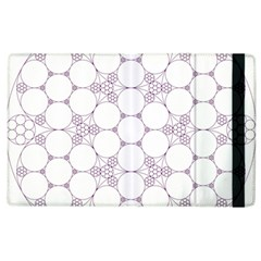 Density Multi Dimensional Gravity Analogy Fractal Circles Apple Ipad 2 Flip Case by Nexatart