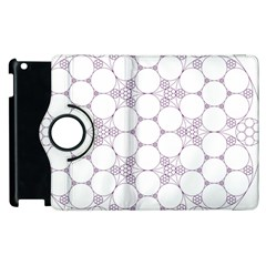 Density Multi Dimensional Gravity Analogy Fractal Circles Apple Ipad 2 Flip 360 Case by Nexatart