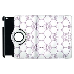 Density Multi Dimensional Gravity Analogy Fractal Circles Apple Ipad 3/4 Flip 360 Case by Nexatart