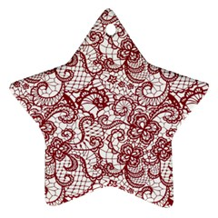 Transparent Lace With Flowers Decoration Ornament (star)