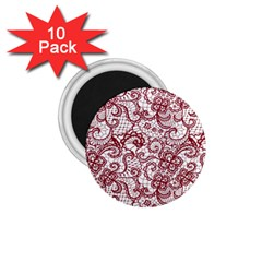 Transparent Lace With Flowers Decoration 1 75  Magnets (10 Pack)  by Nexatart