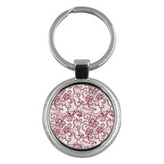 Transparent Lace With Flowers Decoration Key Chains (round)