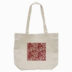 Transparent Lace With Flowers Decoration Tote Bag (cream)