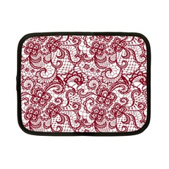 Transparent Lace With Flowers Decoration Netbook Case (small)  by Nexatart