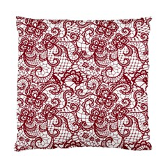 Transparent Lace With Flowers Decoration Standard Cushion Case (two Sides)