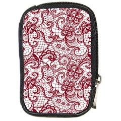 Transparent Lace With Flowers Decoration Compact Camera Cases