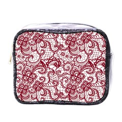 Transparent Lace With Flowers Decoration Mini Toiletries Bags by Nexatart