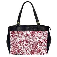 Transparent Lace With Flowers Decoration Office Handbags (2 Sides)  by Nexatart
