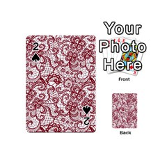 Transparent Lace With Flowers Decoration Playing Cards 54 (mini)  by Nexatart