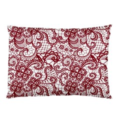 Transparent Lace With Flowers Decoration Pillow Case (two Sides)