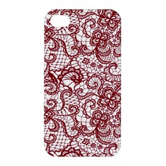 Transparent Lace With Flowers Decoration Apple Iphone 4/4s Premium Hardshell Case by Nexatart