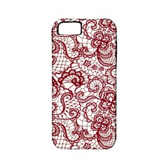 Transparent Lace With Flowers Decoration Apple Iphone 5 Classic Hardshell Case (pc+silicone)