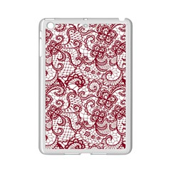 Transparent Lace With Flowers Decoration Ipad Mini 2 Enamel Coated Cases