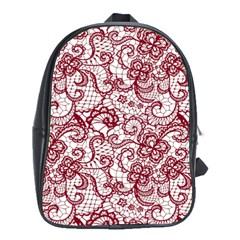 Transparent Lace With Flowers Decoration School Bags (xl)