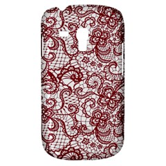Transparent Lace With Flowers Decoration Galaxy S3 Mini