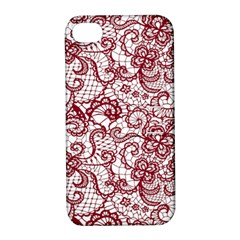 Transparent Lace With Flowers Decoration Apple Iphone 4/4s Hardshell Case With Stand by Nexatart