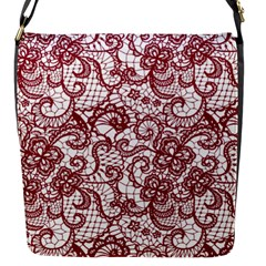 Transparent Lace With Flowers Decoration Flap Messenger Bag (s) by Nexatart