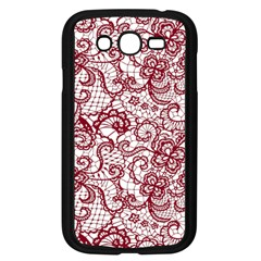 Transparent Lace With Flowers Decoration Samsung Galaxy Grand Duos I9082 Case (black)