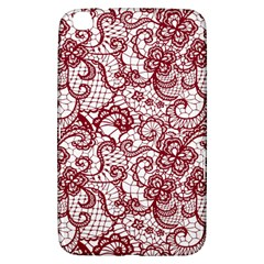 Transparent Lace With Flowers Decoration Samsung Galaxy Tab 3 (8 ) T3100 Hardshell Case