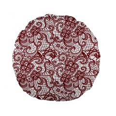 Transparent Lace With Flowers Decoration Standard 15  Premium Flano Round Cushions by Nexatart