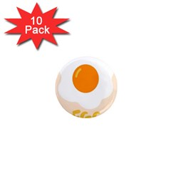 Egg Eating Chicken Omelette Food 1  Mini Magnet (10 Pack)