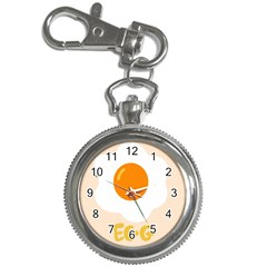 Egg Eating Chicken Omelette Food Key Chain Watches by Nexatart