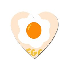 Egg Eating Chicken Omelette Food Heart Magnet by Nexatart