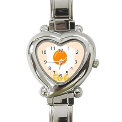 Egg Eating Chicken Omelette Food Heart Italian Charm Watch