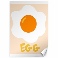 Egg Eating Chicken Omelette Food Canvas 12  X 18   by Nexatart