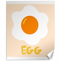 Egg Eating Chicken Omelette Food Canvas 16  X 20